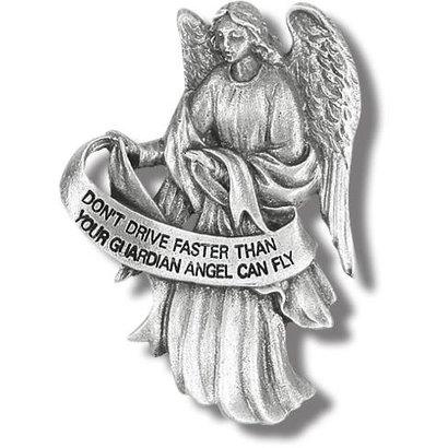 Guardian Angel, Don't Drive Faster Than Your GA, Antique Visor Clip