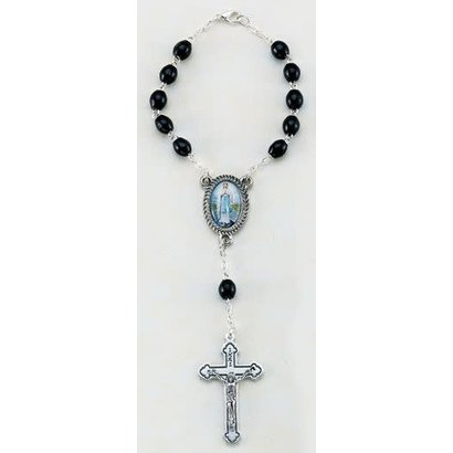 Our Lady of the Highway Auto Rosary, Black Wood Beads