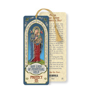OUR LADY OF PERPETUAL HELP LAMINATED BOOKMARK WITH TASSEL