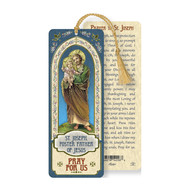 Saint Joseph Laminated Bookmark with Tassel