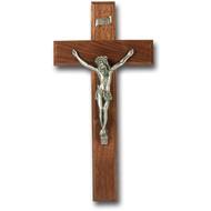 "10"" Walnut Cross with Fine Pewter Corpus"