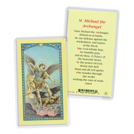 St. Michael Holy Card