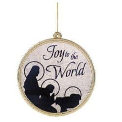 Joy To The World, Round Glass Ornament