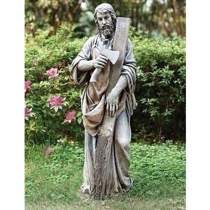 "35.75""H ST Joseph the Worker Garden Statue"