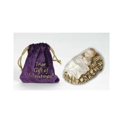"""4""""H Baby Jesus Pouch- True Gift of Christmas"""
