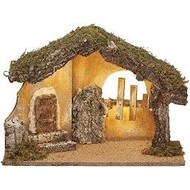 "11.75""H USB Led Italian Stable for 5"" Scale Nativity Nativity Figures"