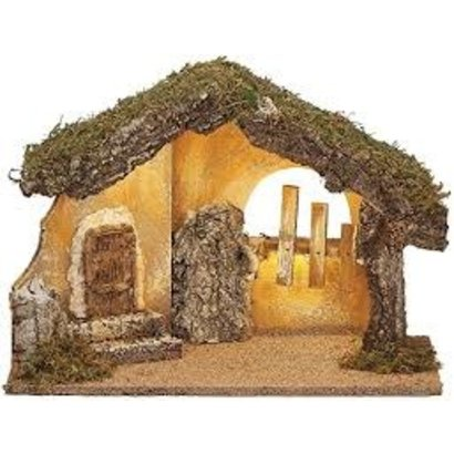 "Fontanini 11.75""H USB Led Italian Stable for 5"" Scale Nativity Nativity Figures"