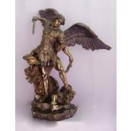 """St. Michael The Archangel , Cold-Cast Bronze, 29"""""""