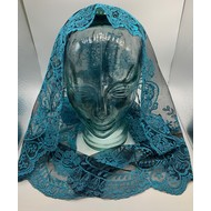 Teal and Black Mantilla, Triangle Style