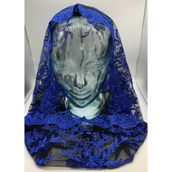 Infinity Style Veil, Mantilla, Blue with Black