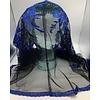 Infinity Style Veil, Mantilla, Blue withBlack