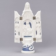 """Triptych W/La Pieta 12.25""""H"""