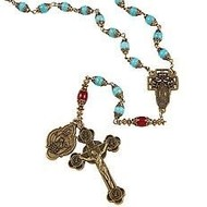 Our Lady of Guadalupe Vintage Rosary, Certified Limited Edition,Made in Italy