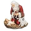 """Kneeling Santa w/baby, 5"""""""