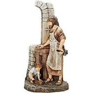 St. Joseph, the Carpenter and his Apprentice, 12.75""