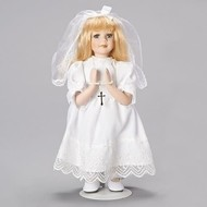 """First Holy Communion  Doll, 12""""H Blonde"""