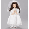 """First Holy Communion Doll, 12""""H Brunette"""