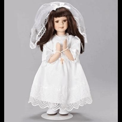"12""H Brunette Communion Figure"
