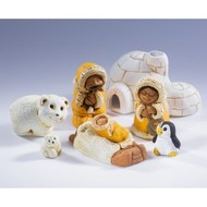 Polar Small  Ceramic Nativity