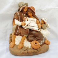 Holy Family & Angel-Fine Ceramic Nativity 7.8H