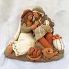 Holy Family with Bread Ceramic Nativity