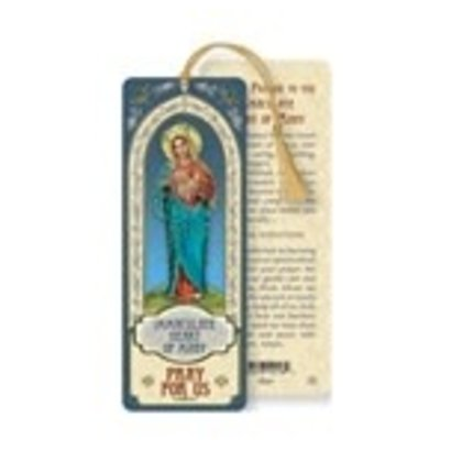 Immaculate Heart of Mary Laminated Bookmark with Tassel