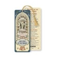 Our Lady Of The Rosary Laminated Bookmark with Tassel