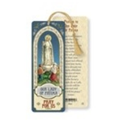 Our Lady of Fatima Laminated Bookmark with Tassel