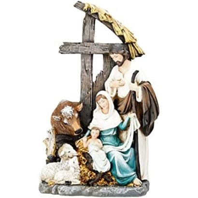 "Holy Family with Cross Stable 11"" Figure"