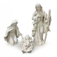 "Nativity Holy Family Set off White 18""H"