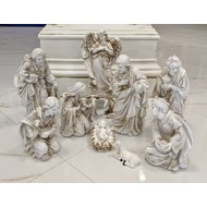 "Nativity Set Marble Off White Color,  11 PCS , 12""H"