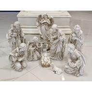 """Nativity Set Marble Off White Color,  11 PCS , 12""""H"""