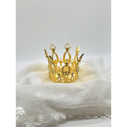 Metal Gold Crown with Decorative Jewels 7cm