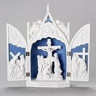 """Triptych w/ Crucifix, 14""""H"""