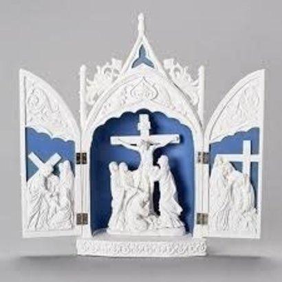 """14"""" H Triptych w/ Crucifix"""