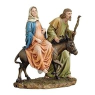"10""H La Posada Figure of the Holy Family"