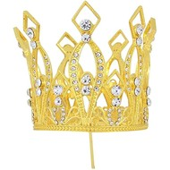 Metal Gold Crown with Decorative Jewels 5cm