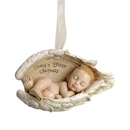 Babies First Christmas, Baby In Wings-Ornament2.25""