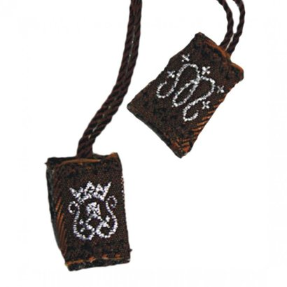 "1/2"" Brown Cloth Scapular"