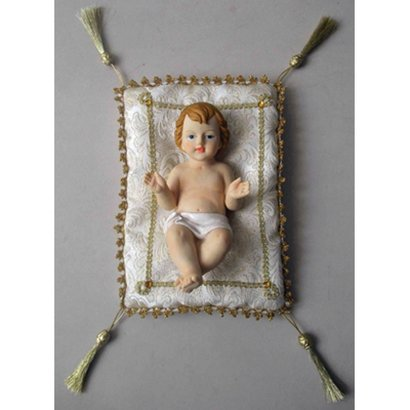 """Baby Jesus with Gold Cushion 8"""""""