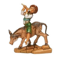 "Fontanini Dominic Boy with Donkey 5"" Scale Nativity Figurine"