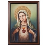 """Immaculate  Heart of Mary, 20"""" W X 27""""H"""