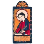 San Juan Retablos Pocket Saint- Patron of Writers. Editors, Publishers, Printers