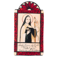 Saint Teresa of Avila Retablo Pocket Saint