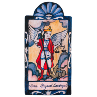 Saint Michael the Archangel Small Size Retablo