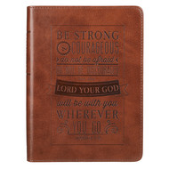 Lux Leather Journal, Brown~Be Strong