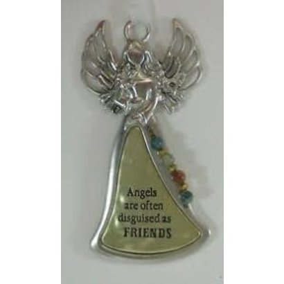 """Angel Ornament, """"Angels are often described as friends"""""""