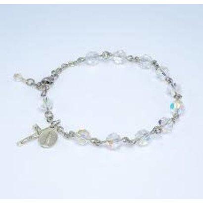 7mm Swarovski Crystal Rosary Bracelet