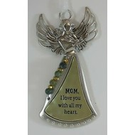 Angel Ornament- Mom, I Love You with all my heart