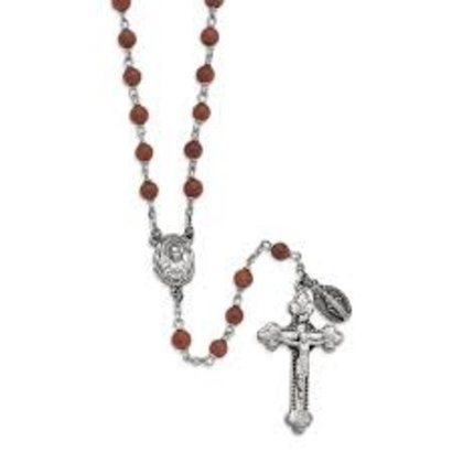 Genuine Goldstone Italian Semi-Precious Rosary 6mm